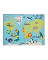 World Map Kids' Play Rug