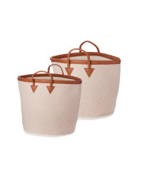 Woven Baskets 2 Pack - Natural