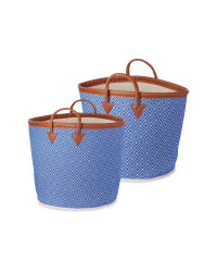 Woven Baskets 2 Pack - Navy