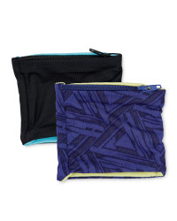 Wrist Pocket - 2 Pack - Black/Blue