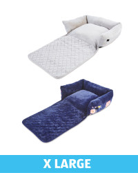 XL Floral Roll Down Pet Bed