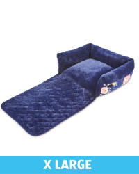 XL Floral Roll Down Pet Bed - Navy