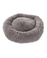 Extra Large Dog Bed - Grey Long Pile