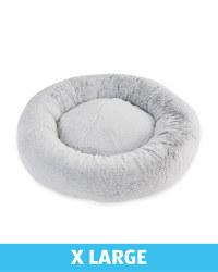 XL Comfy Short Pile Pet Bed - Grey