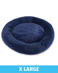XL Comfy Short Pile Pet Bed - Navy