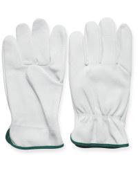 XL Dark Green Leather Garden Gloves