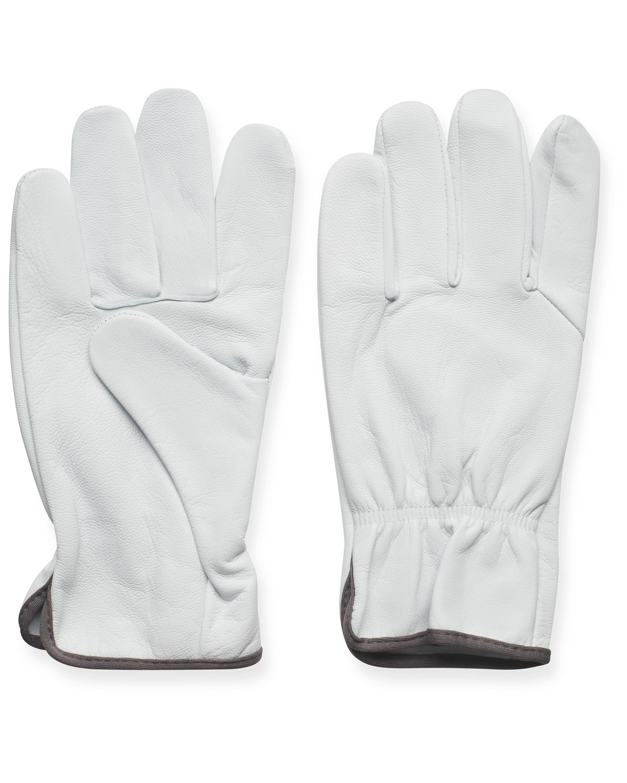 XXL Anthracite Leather Garden Gloves