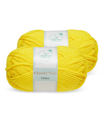 So Crafty Yellow Chunky Yarn 2 pack