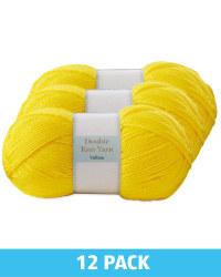 Yellow Double Knitting Yarn 12 Pack