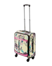 Yellow Floral Travel Suitcase