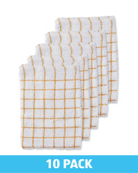 Yellow Terry Tea Towels 10 Pack