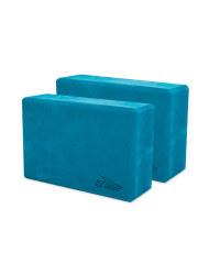 Crane Blue Yoga Block 2 Pack