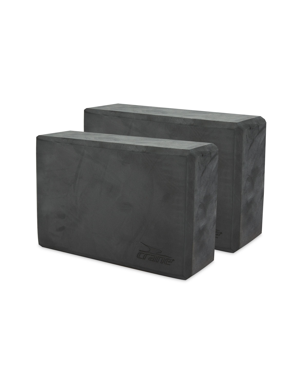 Crane Dark Grey Yoga Block 2 Pack