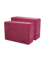 Crane Maroon Yoga Block 2 Pack