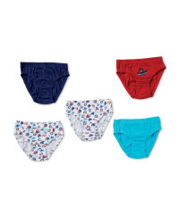 Boys' Nautical Briefs - Pack of 5