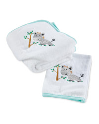 Zebra Hooded Baby Towel/Wash Mitt