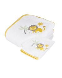 Zoo Hooded Baby Towel &  Mitt
