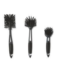 Kirkton House Kitchen Brush 3 Pack - Black