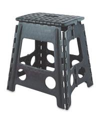 Large Folding Step Stool - Black