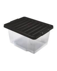 20L Storage Boxes 2 Pack - Black
