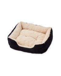 XL Plush Pet Bed - Black
