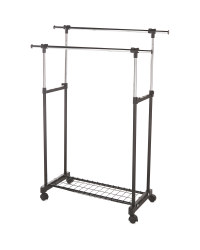 Easy Home Metal Clothes Trolley - Black