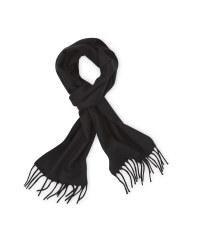 Avenue Men's Woven Scarf - Black