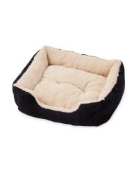 Large Plush Pet Bed - Black
