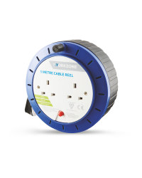 Workzone 5 Metre Cable Reel - Blue