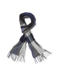 Avenue Men's Woven Scarf - Blue/Grey