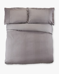 Superking Waffle Duvet Cover Set - Charcoal