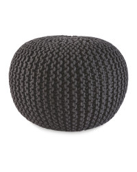 Kirkton House Knitted Pouffe - Charcoal