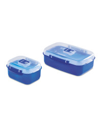 Heat and Eat Container 2 Pack - Dark Blue
