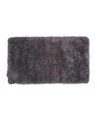 Rectangular Soft Shaggy Rug - Dark Grey