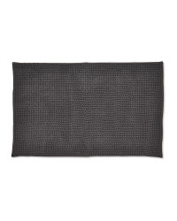 Chenille Bobble Bath Mat - Dark Grey