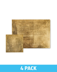 Rectangle Placemat & Coaster Set - Gold