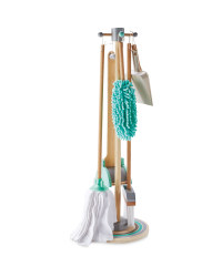 Little Town Wooden Cleaning Set - Green