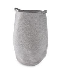 Cotton Rope Laundry Basket - Grey & White