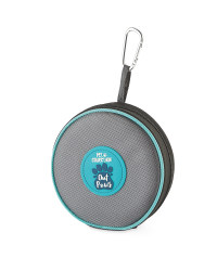 Pet Collection Collapsible Pet Bowl - Grey/Turquoise