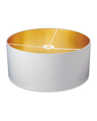 Shade With Metallic Lining 45 x 20cm - Grey