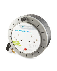 Workzone 5 Metre Cable Reel - Grey