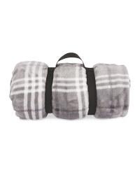 Kirkton House Travel Fleece Blanket - Grey
