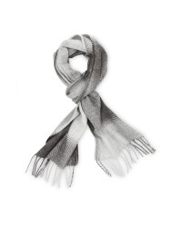 Avenue Men's Woven Scarf - White/Grey