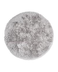 Round Soft Shaggy Rug - Light Grey