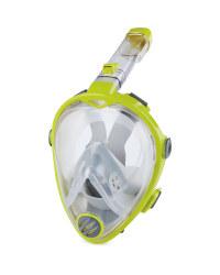 Crane Full Face Snorkel Mask S/M - Lime