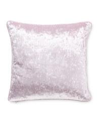 Crushed Velvet Effect Cushion - Mauve