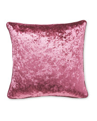 Crushed Velvet Effect Cushion - Pink