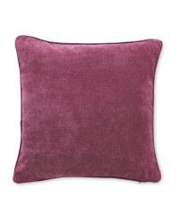 Plain Velvet Effect Cushion - Pink