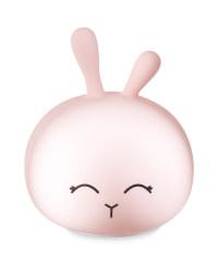 Rabbit Silicone Night Light - Pink