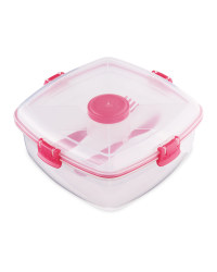 Sistema Salad Max To Go Lunch Box - Pink